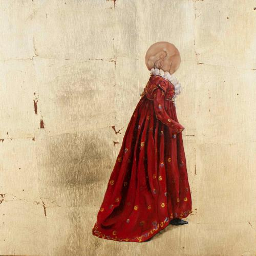 (detalle del políptico)Vestido redondo 1795